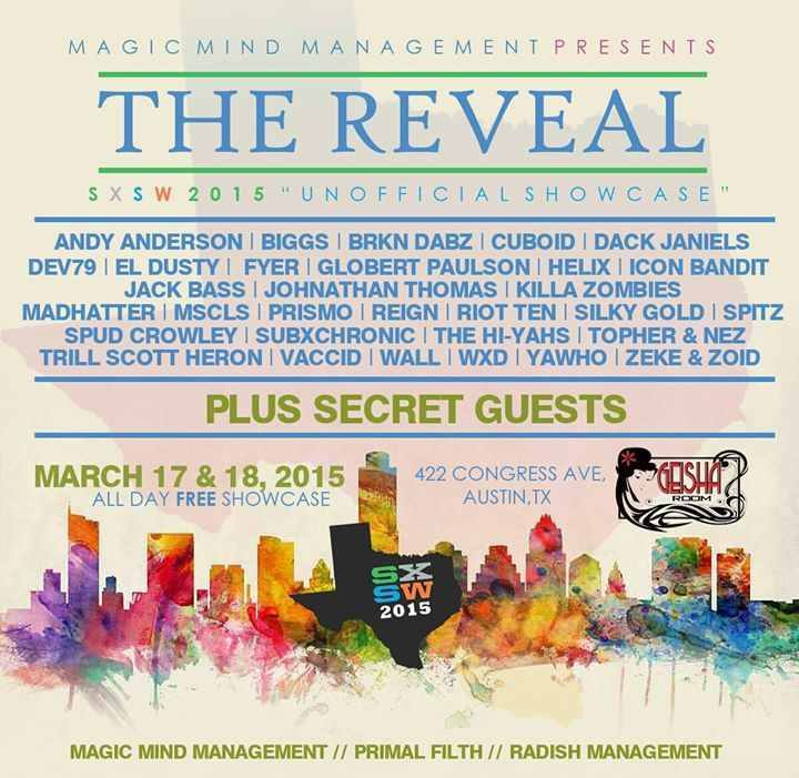 The Reveal SXSW 2015 Unofficial Showcase Announced
