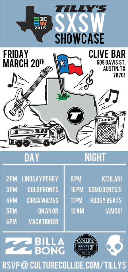 Culture Collide and Tilly's SXSW 2015 Day Party and Showcase Announced
