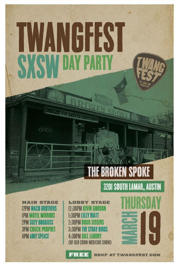 Twangfest SXSW 2015 Day Party Announced