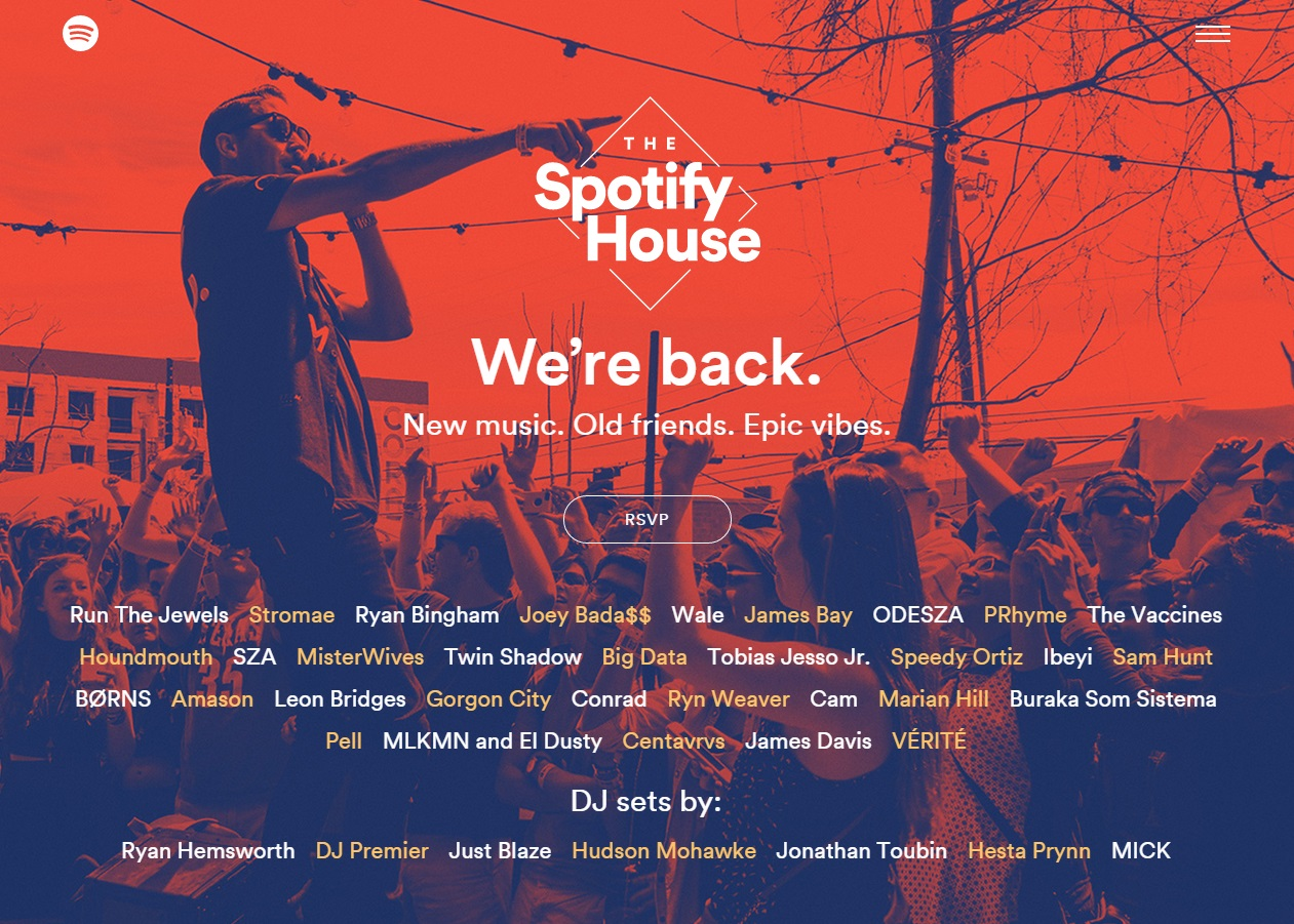The Spotify House SXSW 2015 Day Parties Announced