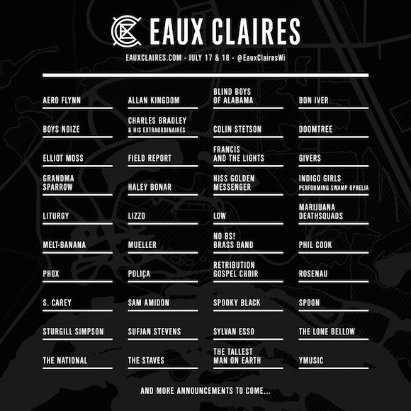Eaux Claires Music Festival Announces Inaugural Lineup Announced Featuring Bon Iver, Doomtree and Charles Bradley