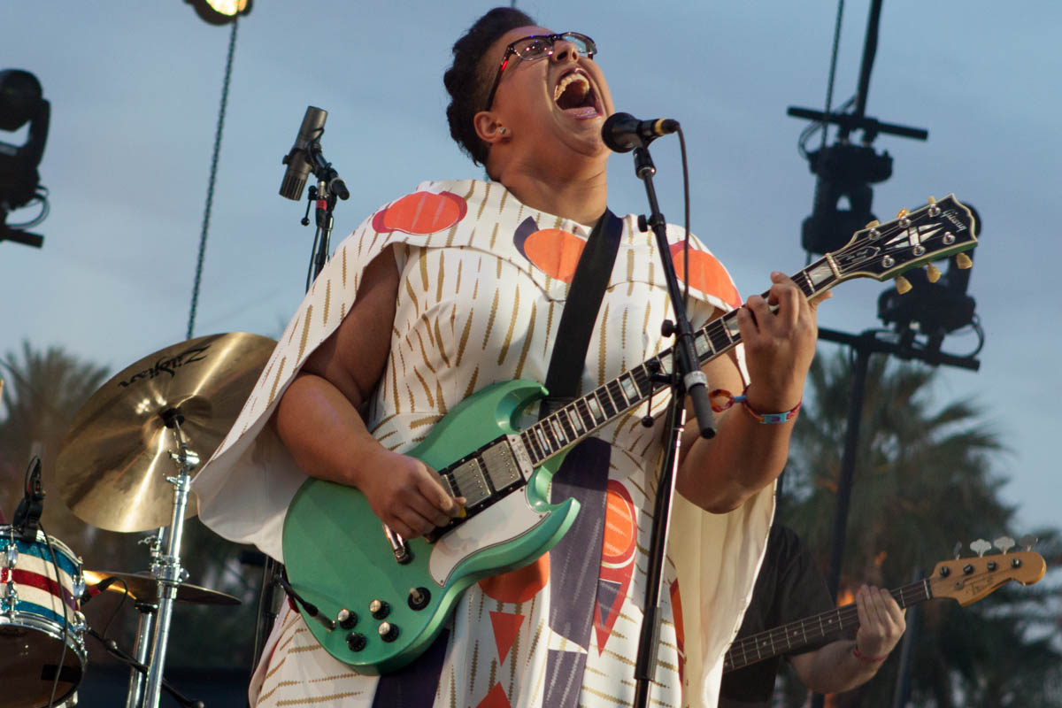 Alabama Shakes getting the twilight set on the Outdoor Stage.