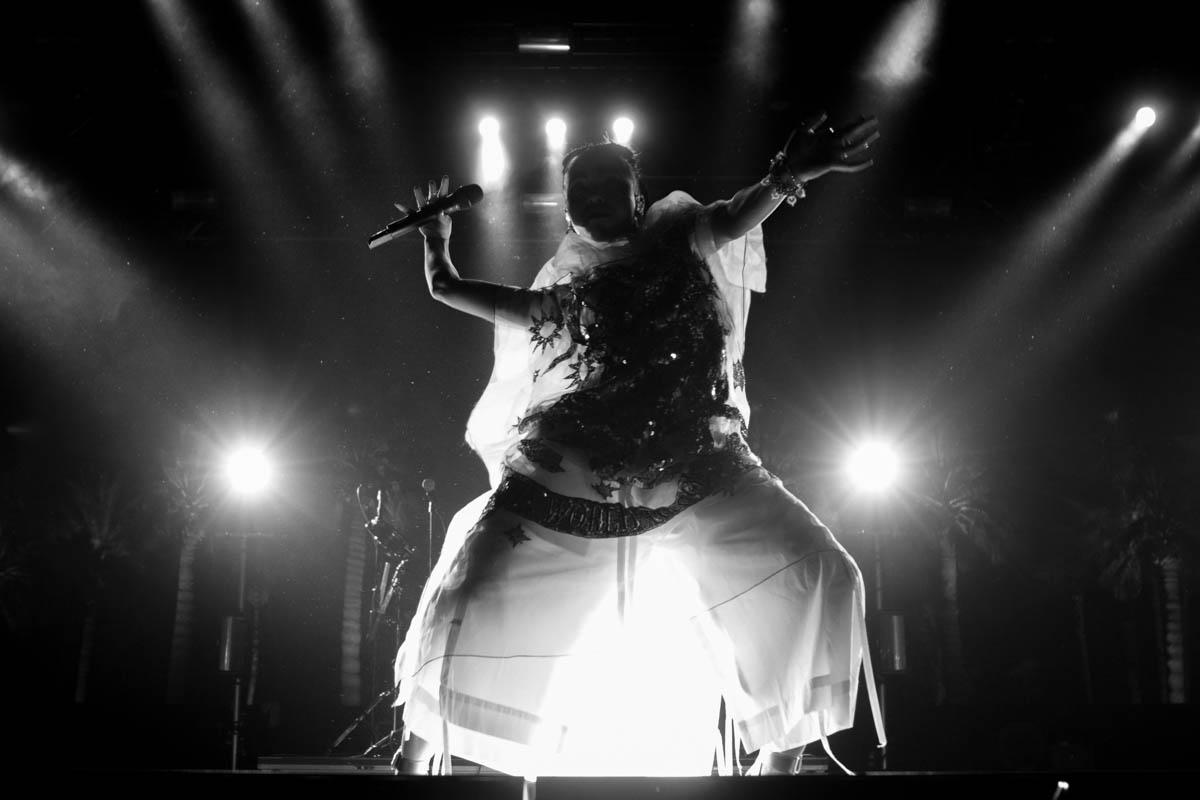 FKA Twigs' eccletic set on the Gobi Stage.