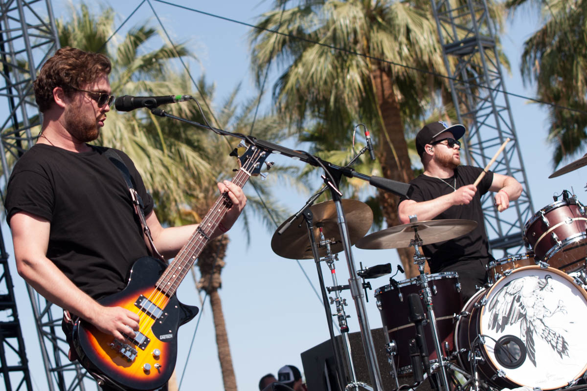 UK's Royal Blood enjoying a bit of sun on the Outdoor Stage.