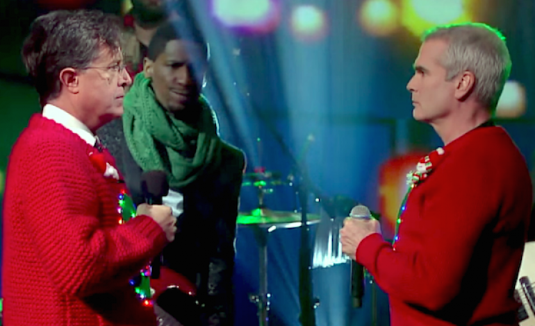 """WATCH: Stephen Colbert And Henry Rollins Perform """"Carol Of The Bells"""""""