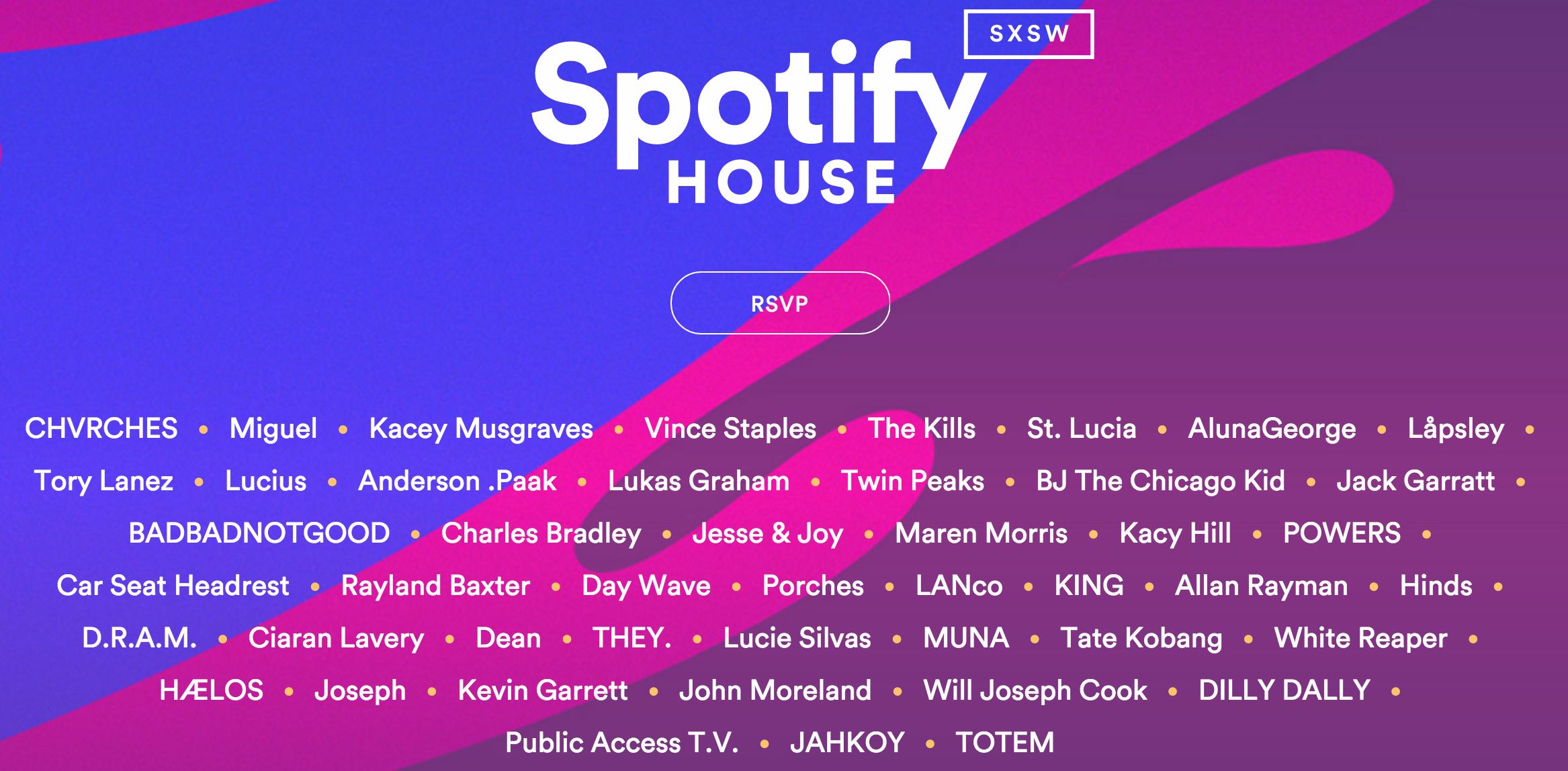 Spotify House SXSW 2016