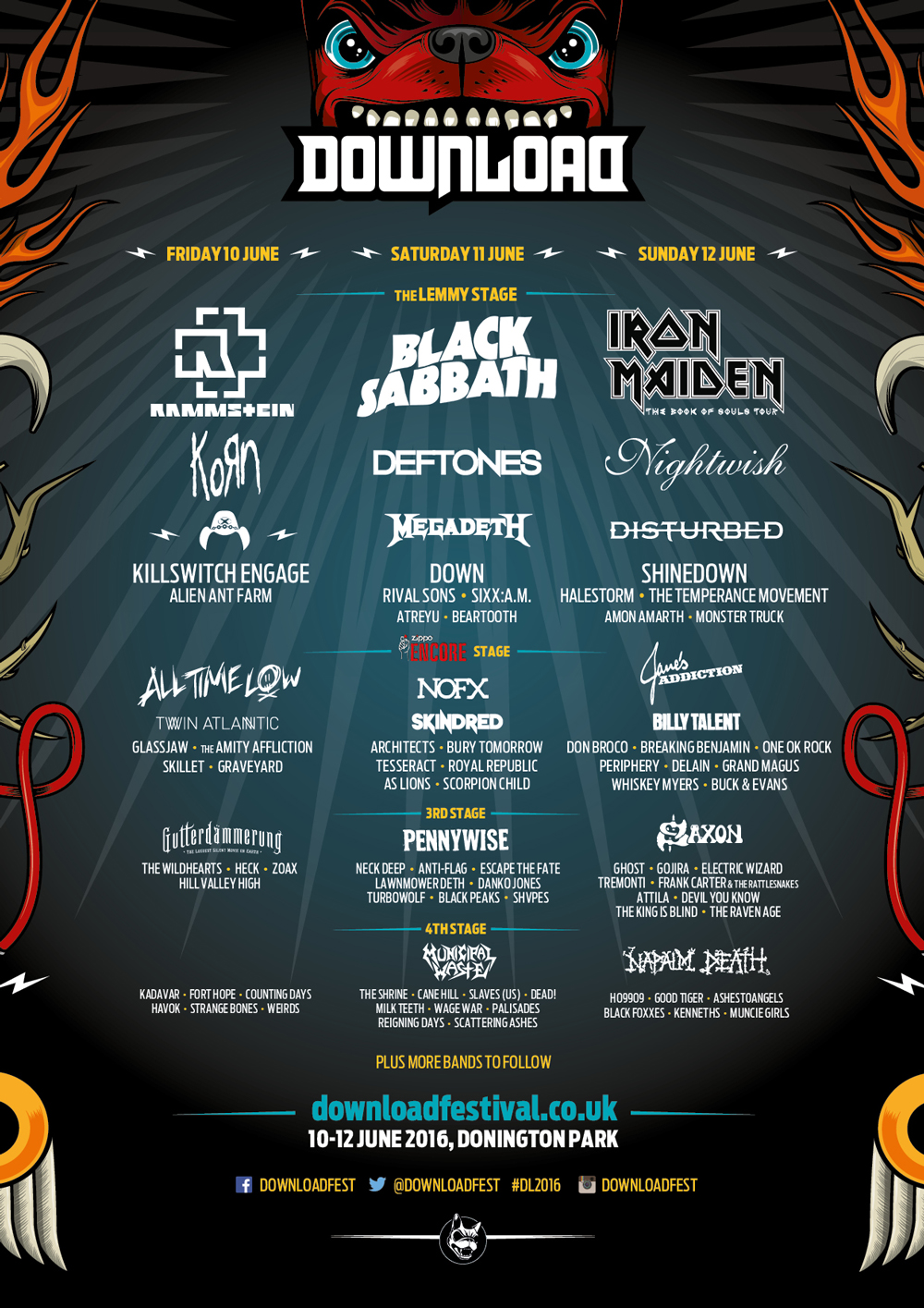 Download Announces 2016 Lineup Featuring Ghost, Electric Wizard And