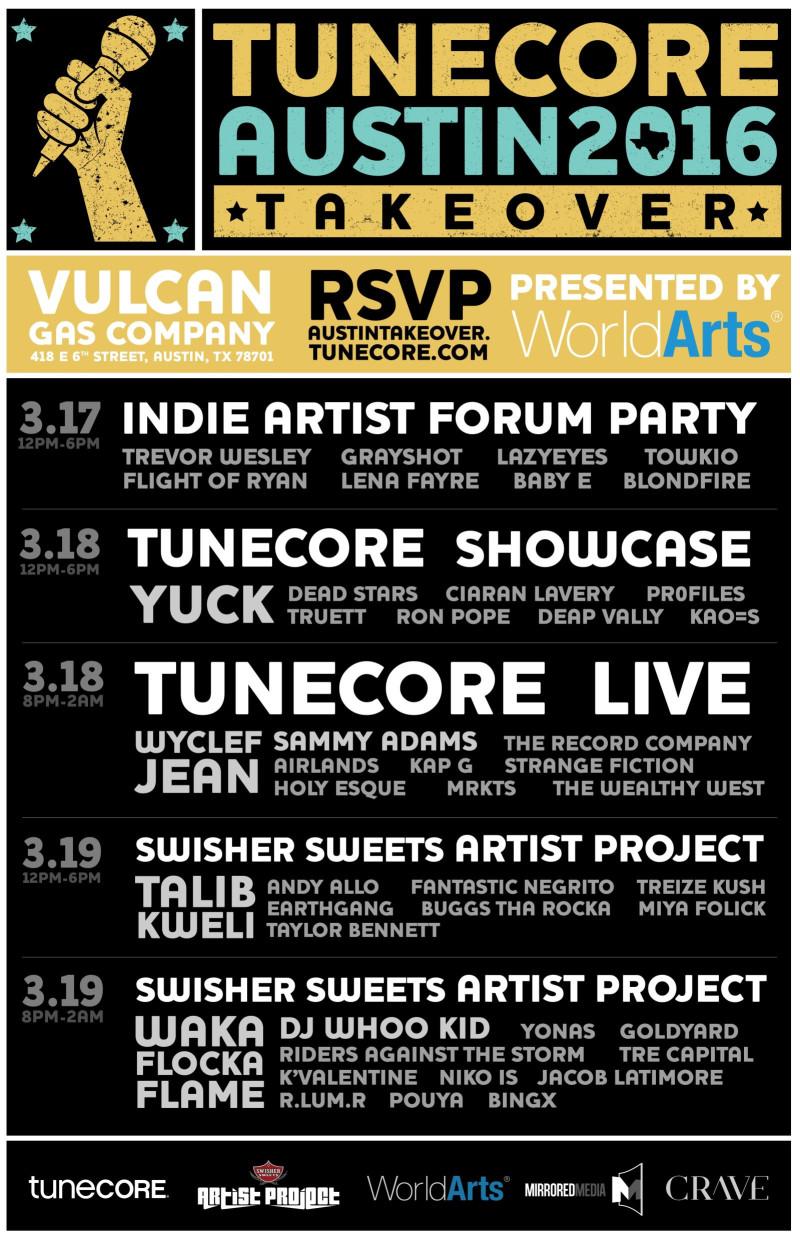 TuneCore SXSW 2016