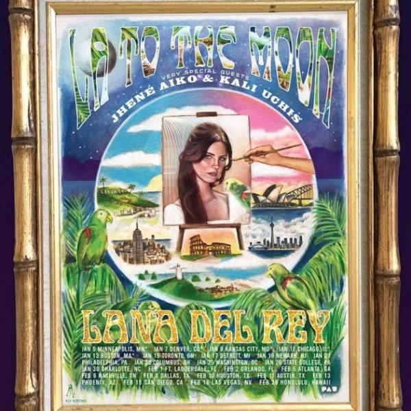 Lana Del Rey Tour Poster