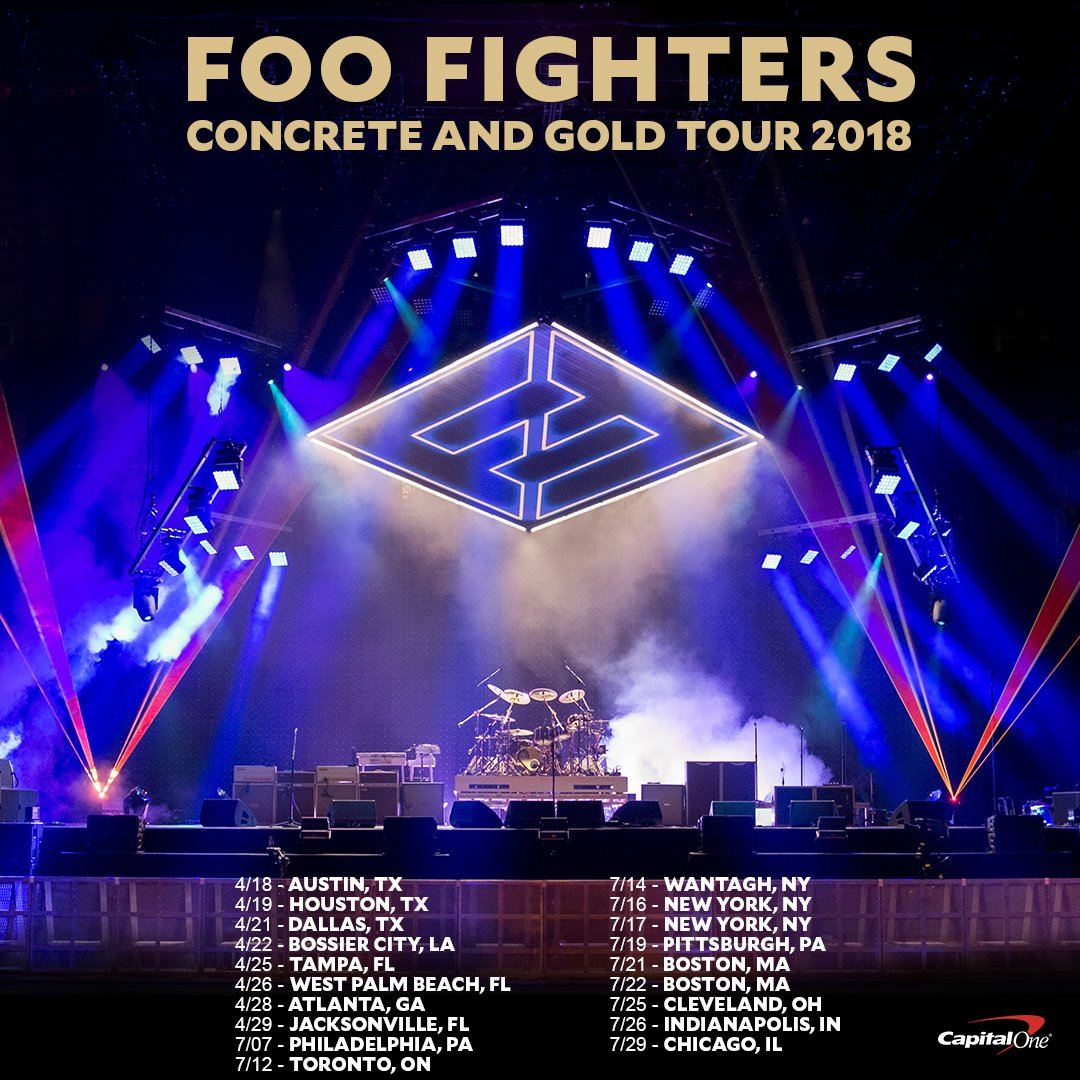 Sioux City Ford >> Foo Fighters Announce 2018 Concrete & Gold Tour Dates ...