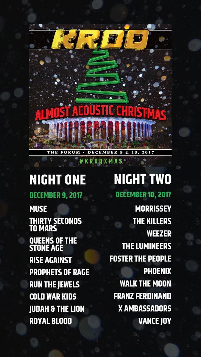 Kroq Acoustic Christmas 2020 Night 1 | Uyxddy.newyear2020blog.site