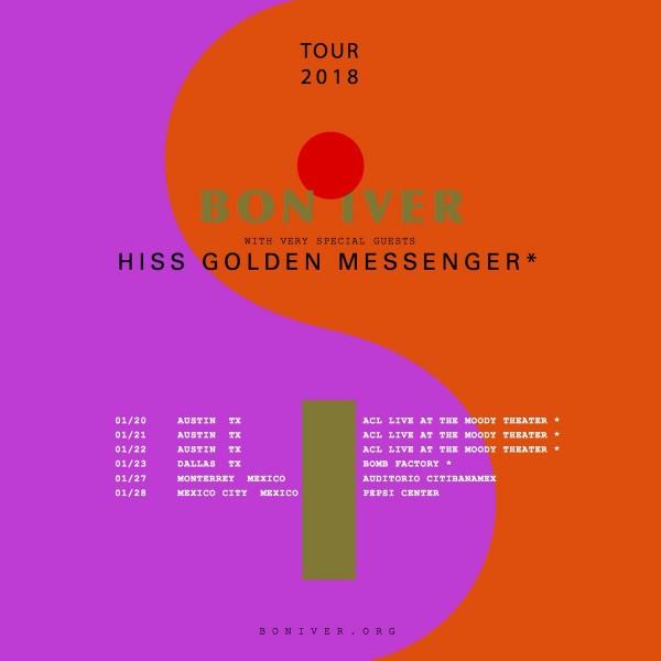 Bon Iver Tour Flyer 2018