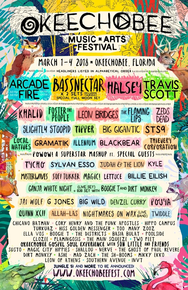 Cake Art Festival 2018 : Okeechobee Music & Arts Festival Announces 2018 Lineup ...