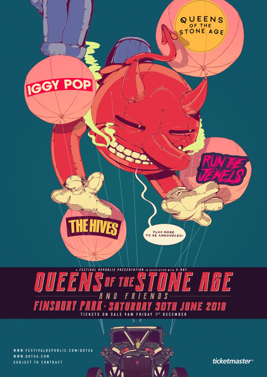 Queens of the Stone Age and Friends FLyer