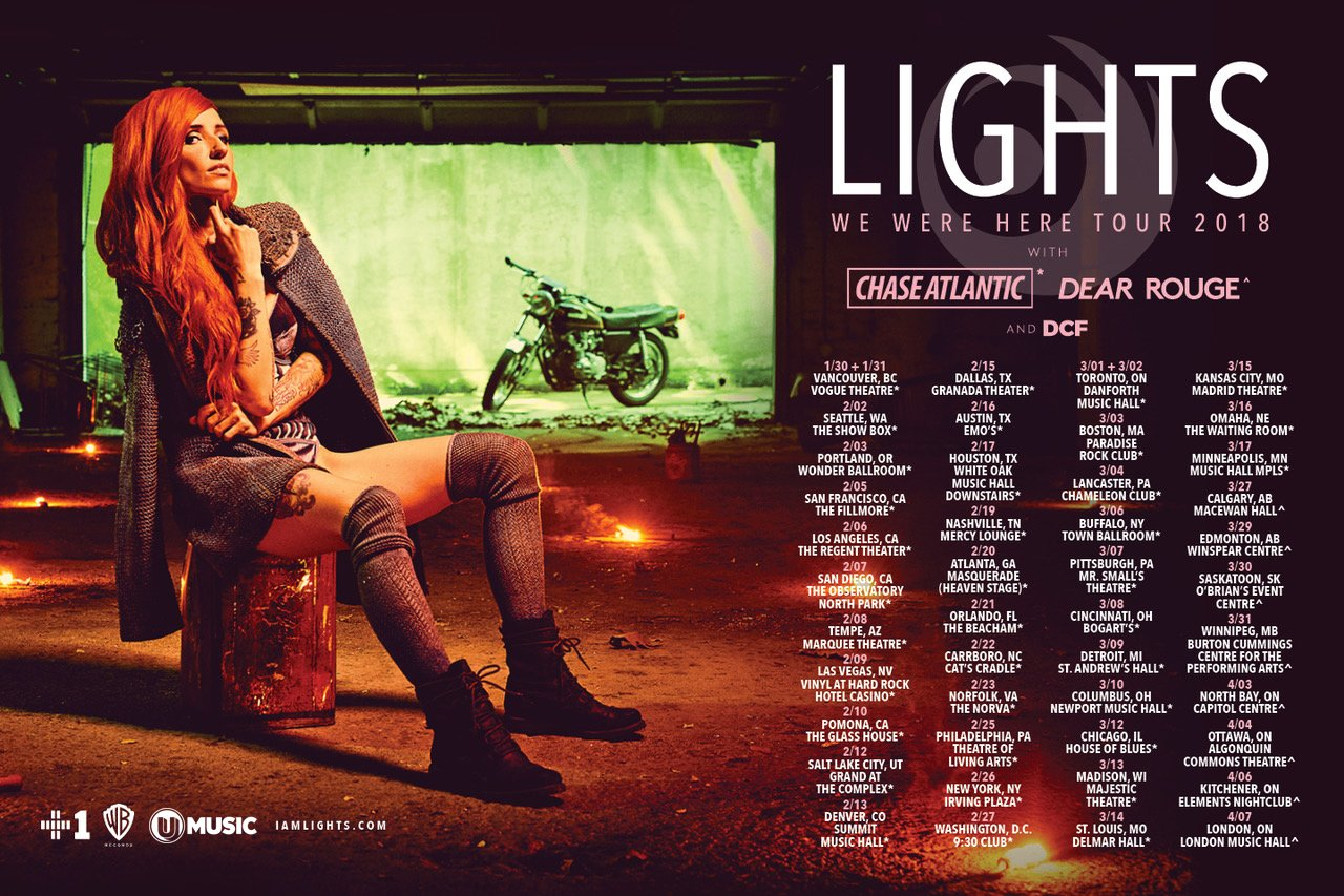lights tour flyer