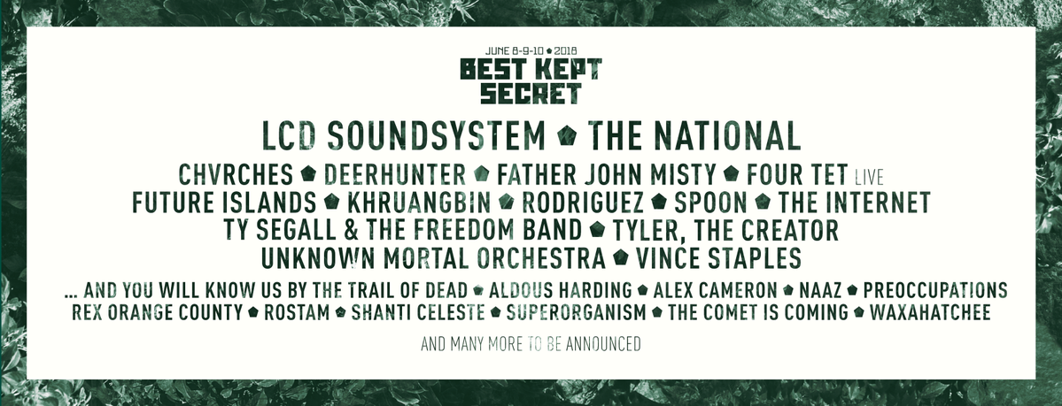 Best Kept Secret Festival Announces 2018 Lineup Featuring ...