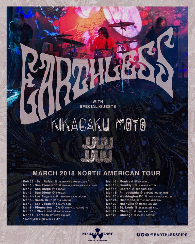 Earthless Tour Flyer 2018