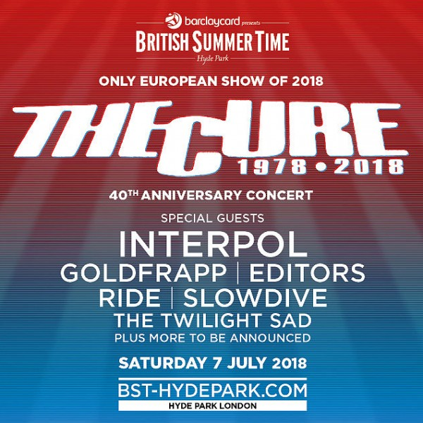 The Cure Concert Flyer