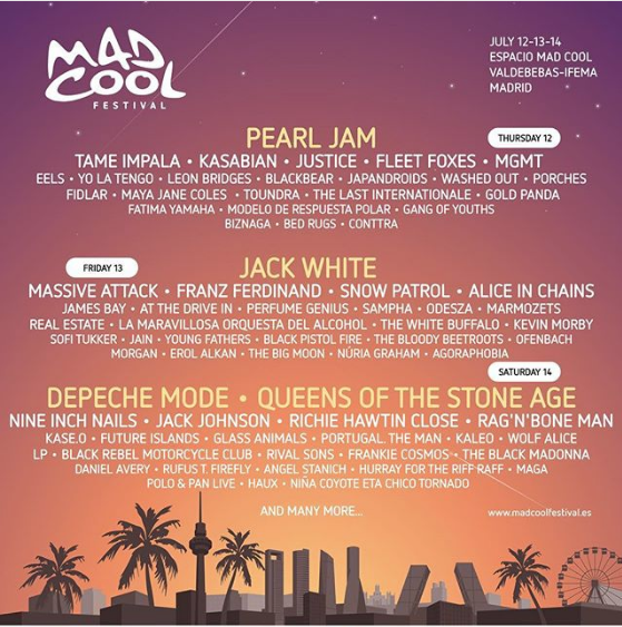 Mad Cool 2018 Lineup Full