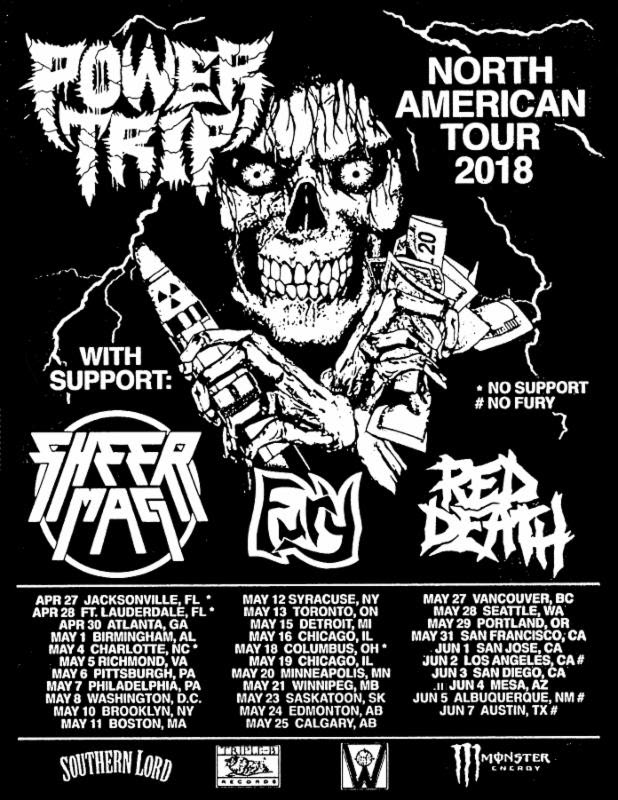 Power Trip and Sheer Mag Tour Flyer