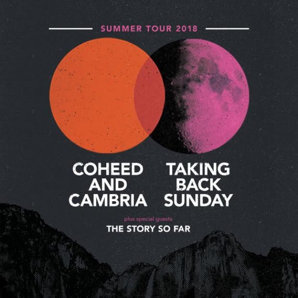 Coheed and Cambria and Taking Back Sunday Tour Flyer