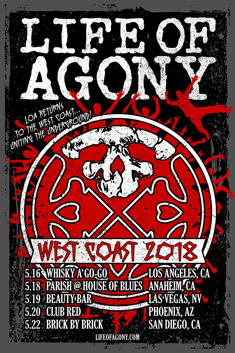 Life of Agony Tour 2018