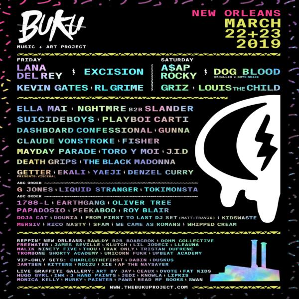 Buku Music + Art Project Announces 2019 Lineup Featuring