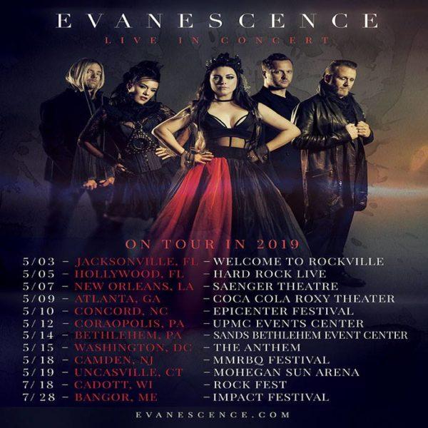 Evanescence Announces Spring 2019 Tour Dates - mxdwn Music