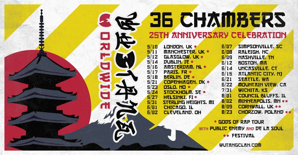 Wu-Tang Clan Announce Spring 2019 25th Anniversary Tour Dates