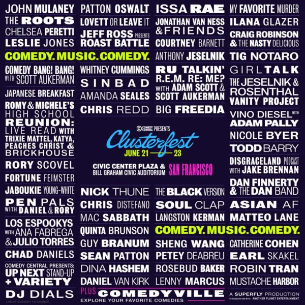 Comedy Central Clusterfest Announces 2019 Lineup Featuring