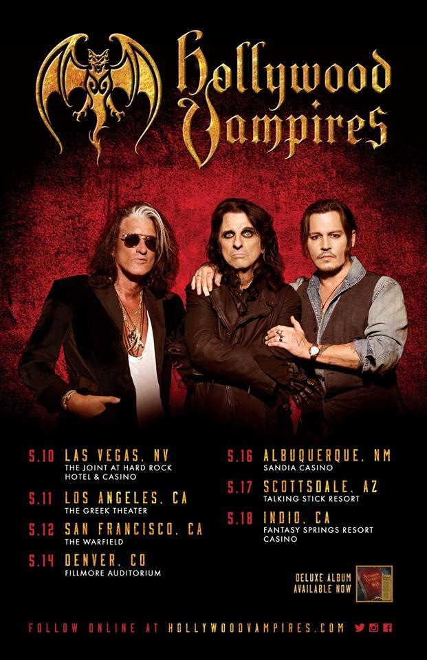 The Hollywood Vampires Announce Spring 2019 Tour Dates and Confirm