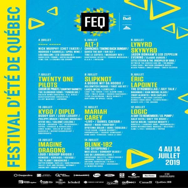 2020 Quebec City Summer Festival.Quebec City Summer Festival Announces 2019 Lineup Including