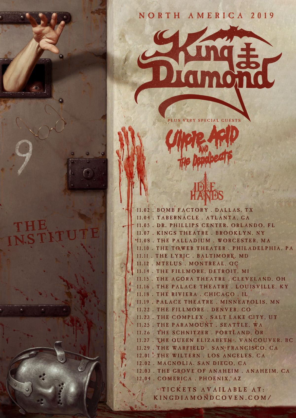 Diamond Tours 2020 Schedule King Diamond Announces New Album The Institute for 2020 Release