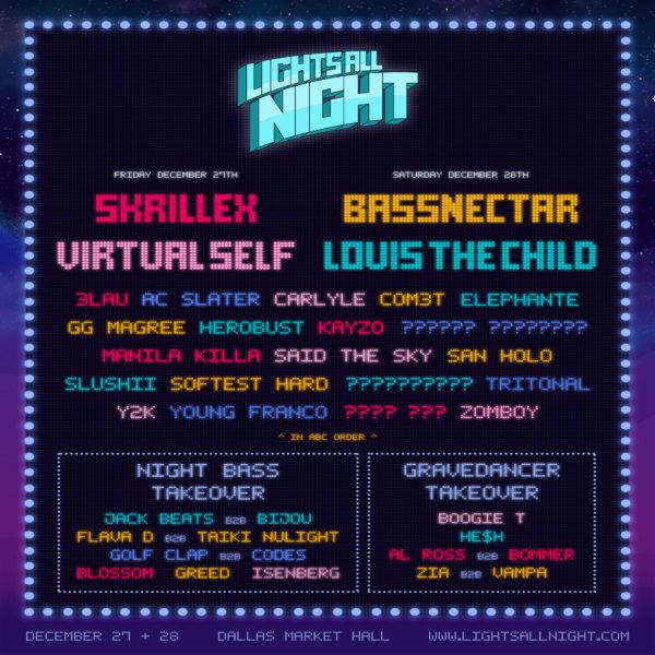 Lights All Night Announces 2019 Lineup Featuring Skrillex