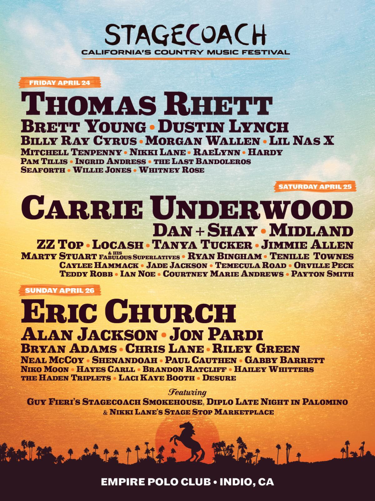 Outlaw Music Festival 2020 Lineup.Stagecoach Announces 2020 Lineup Featuring Eric Church