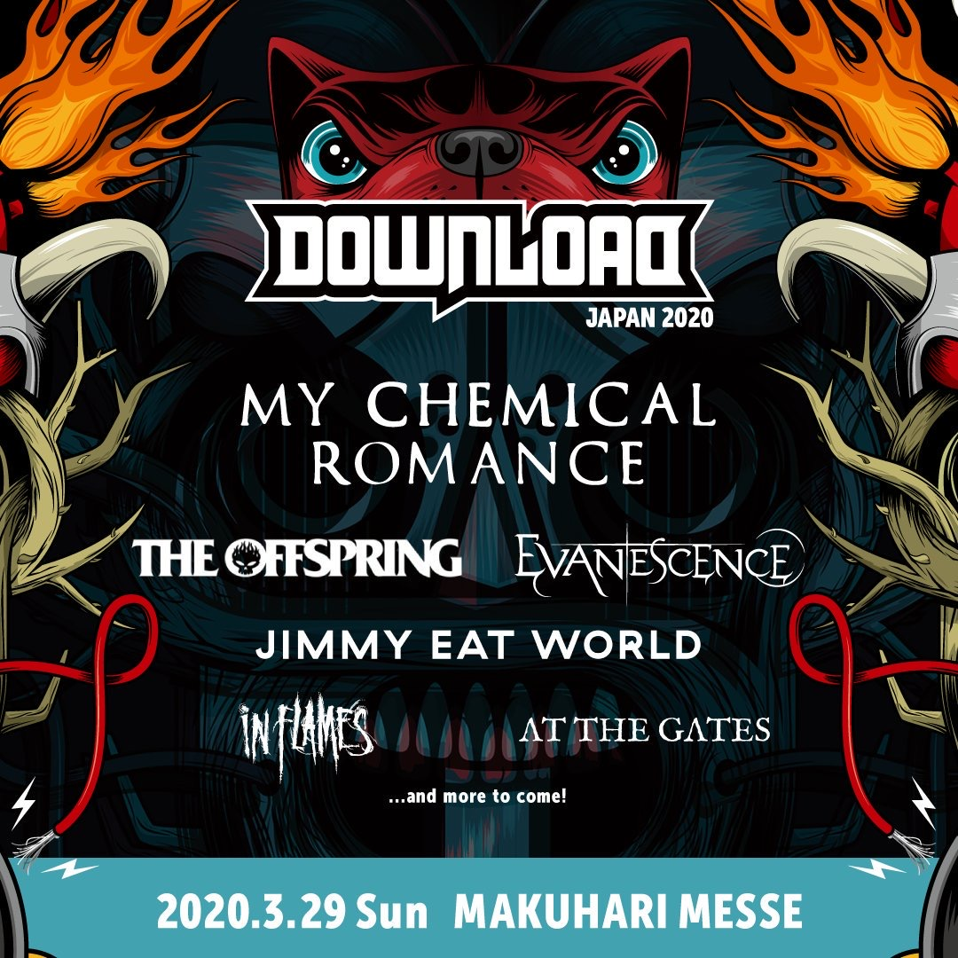 Evanescence Tour 2020.Download Festival Japan Announces 2020 Lineup Featuring My