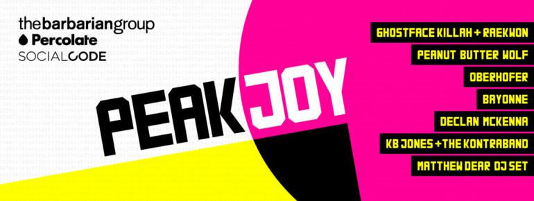 Peak Joy SXSW 2016 Night Party Announced