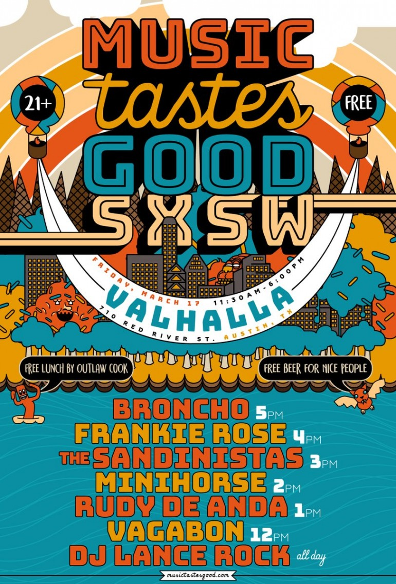 Music Tastes Good SXSW 2017 Day Party Announced ft BRONCHO