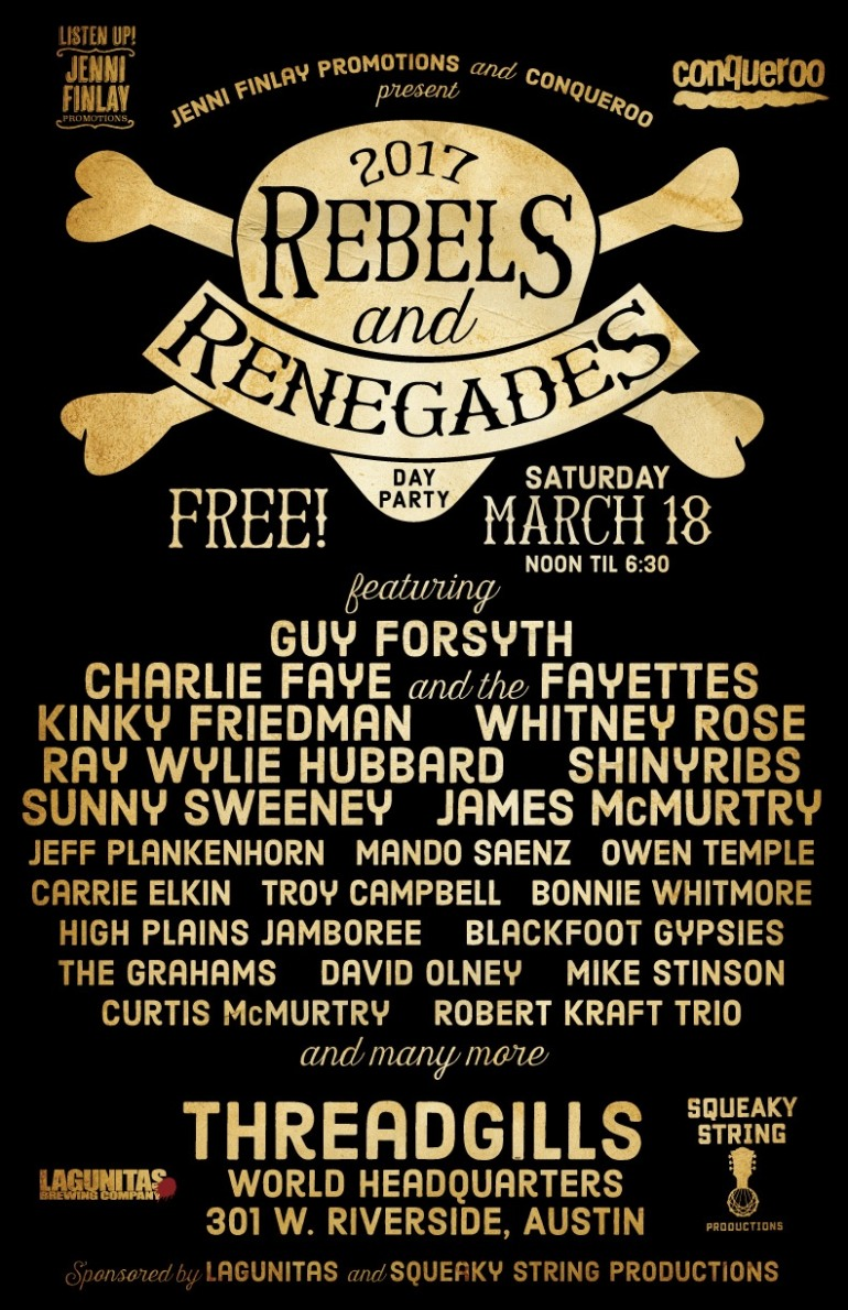 Jenni Finlay and Conqueroo present Rebels and Renegades SXSW 2017 Party Announced
