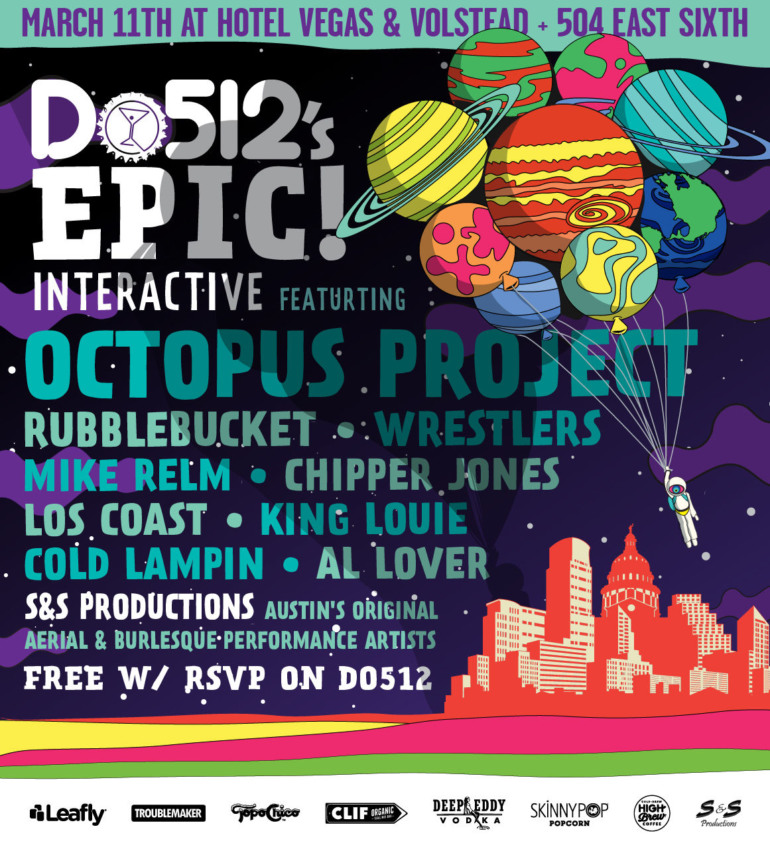 Do512 EPIC! Interactive SXSWi 2016 Night Party Announced ft Octopus Project