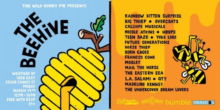 The Wild Honey Pie presents The Beehive SXSW 2017 Party Announced